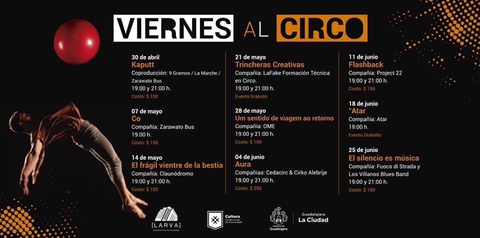 Cartelera del cíclo Viernes al Circo.